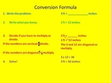 Customary Unit Conversion - Power Point