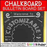 Customizable Chalkboard Bulletin Board Set