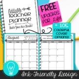Ultimate Teacher Planner & Organizer Binder EDITABLE {Ink-