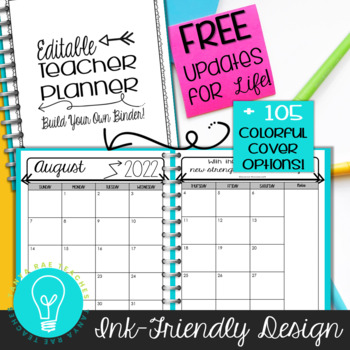 Ultimate Teacher Planner & Organizer Binder EDITABLE {Ink-Friendly}