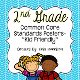 """Customized 2nd Grade Common Core Standards Posters- """"Kid F"""