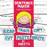 "Writing Worksheets - 'Sentence Maker"" Basic Writing + Reading"