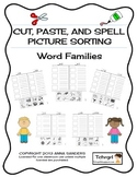 Cut, Paste & Spell Picture Sort Worksheets-Book 1 - Word F