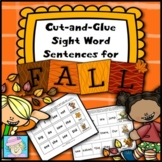 Sight Word Cut-and-Glue Sentences for Fall