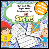 Sight Word Cut-and-Glue Sentences for Spring