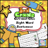 Sight Word Cut-and-Glue Sentences for Third Grade
