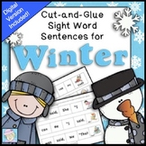 Sight Word Cut-and-Glue Sentences for Winter