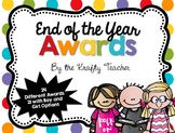 End of the Year Classroom Awards Polkadot