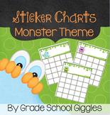 Cute Monster Themed Sticker/Reward Charts