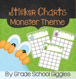 Cute Monster Themed Sticker/Reward Charts