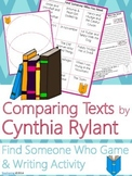 Cynthia Rylant Author Study {Comparison & Contrast Writing