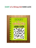 DAIRY of a Wimpy Kid - HARD LUCK activities