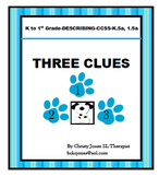 ELA ACTIVITY- DESCRIBING - THREE CLUES