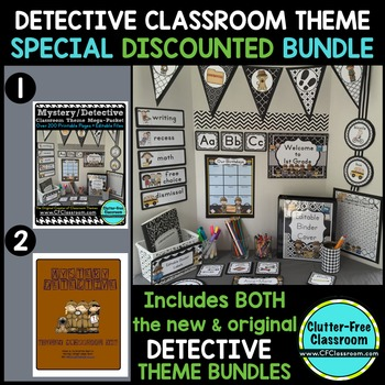 DETECTIVE / MYSTERY Classroom Theme Packet ~ Printables De