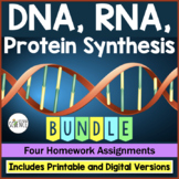 DNA (Deoxyribonucleic Acid), RNA, Protein Synthesis Homewo