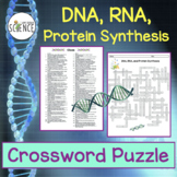 DNA, RNA, Protein Synthesis Crossword Puzzle