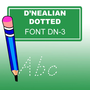 D'Nealian Dotted Lined Style Family Font