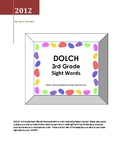 DOLCH 3rd Grade Sight Words - jelly bean border flashcard set