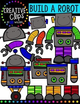 Build a Robot  {Creative Clips Digital Clipart}