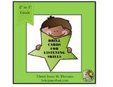 LISTENING SKILLS - DRILL CARDS -Grades 2 to 5