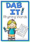 Dab It! Rhyming Words