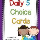 Daily 5 Rotation Choice Cards