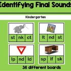 Daily 5 Word Work Identifying Final Blends Game