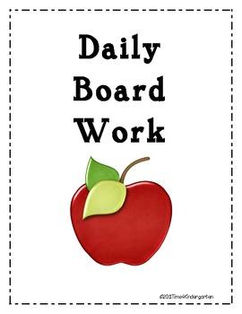 Daily Board Work