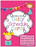 Daily Class Schedule Display Cards Set in Polka Dots