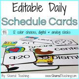 Editable Daily Classroom Schedule