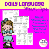 Daily Common Core Language Warm Up