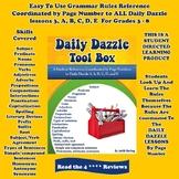 Daily Dazzle Tool Box - Every Daily Dazzle A - E Coordinat