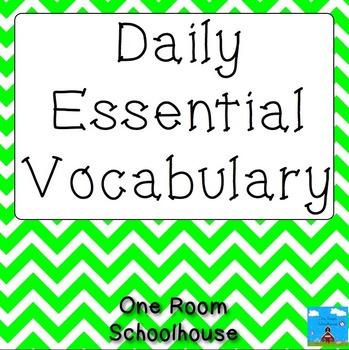 Daily Essential Vocabulary