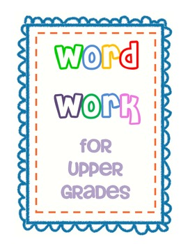Daily Five Word Work for Upper Grades