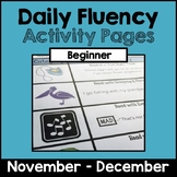 """Daily Fluency"" Activity Pack (November - December)"