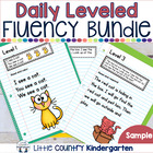 Daily Leveled Fluency Notebook Strips & Passages Sample Freebie
