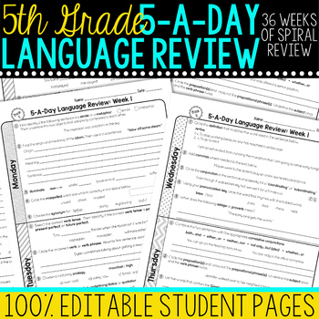 Daily Language Review Fifth Grade