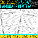 Daily Language Review 5th Grade