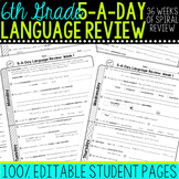 Daily Language Review Sixth Grade