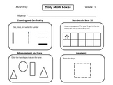 Daily Math Boxes (Yearlong weeks 2-36)