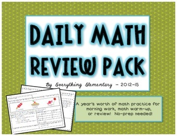 Common Core Math Practice Review & Warm-Up Packet
