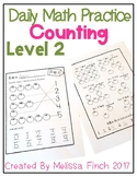 Daily Math Practice for Students with Autism- Level 2/Coun