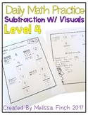 Daily Math Practice for Students with Autism- Level 4/Subt