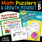 Word Problems - Daily Math Puzzlers Level B