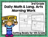 Daily Math and Grammar Morning Work Third Grade - Week 31