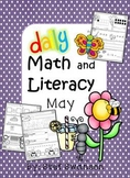 Daily Math and Literacy {May} Morning Work