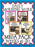 Daily Morning Work Mega Pack~ Language Arts & Math ~ Commo