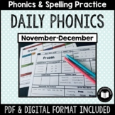 """Daily Phonics"" Word Work (November - December)"