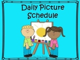 Daily Picture Schedule for Students with Autism and other