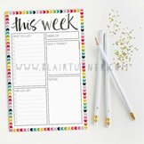 Weekly Planner Notepad: Rainbow Chevron {2 Pack}